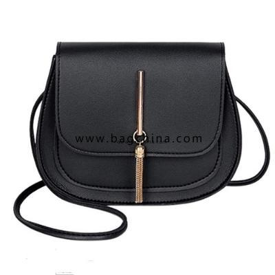 Simple Solid Color Tassel Small Crossbody Bags Shoulder Bag for Women Stylish Ladies Messenger Bags Purse and Handbags