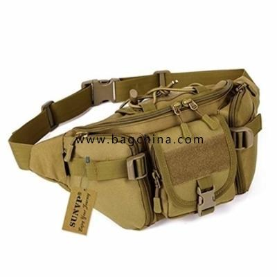 Multi-functional camouflage waist bag high quality wear-resistant nylon bag Military Men's chest bag