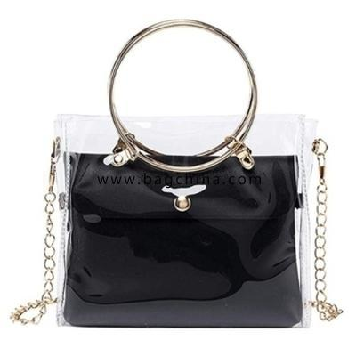 Luxury Handbag Women Transparent Bucket Bag Clear PVC Jelly Small Shoulder Bag Female Chain Cross body Messenger Bags