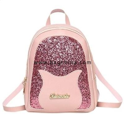 Girl's Small Backpack Fashion Shining Shoulder Bag for Women Back Pack for Teens