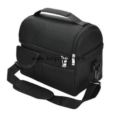Insulated Dual Compartment Lunch Bag for Men, Women Double Deck Reusable Lunch Box Cooler with Shoulder Strap