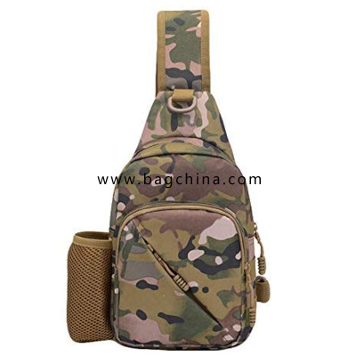 Men Outdoor Students Sport Crossbody Bag Camouflage Chest Bag