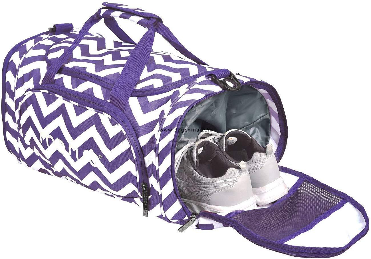 Gym Sports Men/Women Dance Travel Weekender Duffel Bag with Shoe Compartment