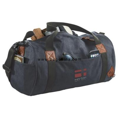 Canvas barrel duffel bags