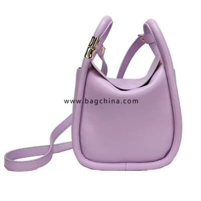 Solid Color PU Leather Bucket Bags For Women 2020 Summer Simple Lady Crossbody Shoulder Handbags Lady Fashion Totes