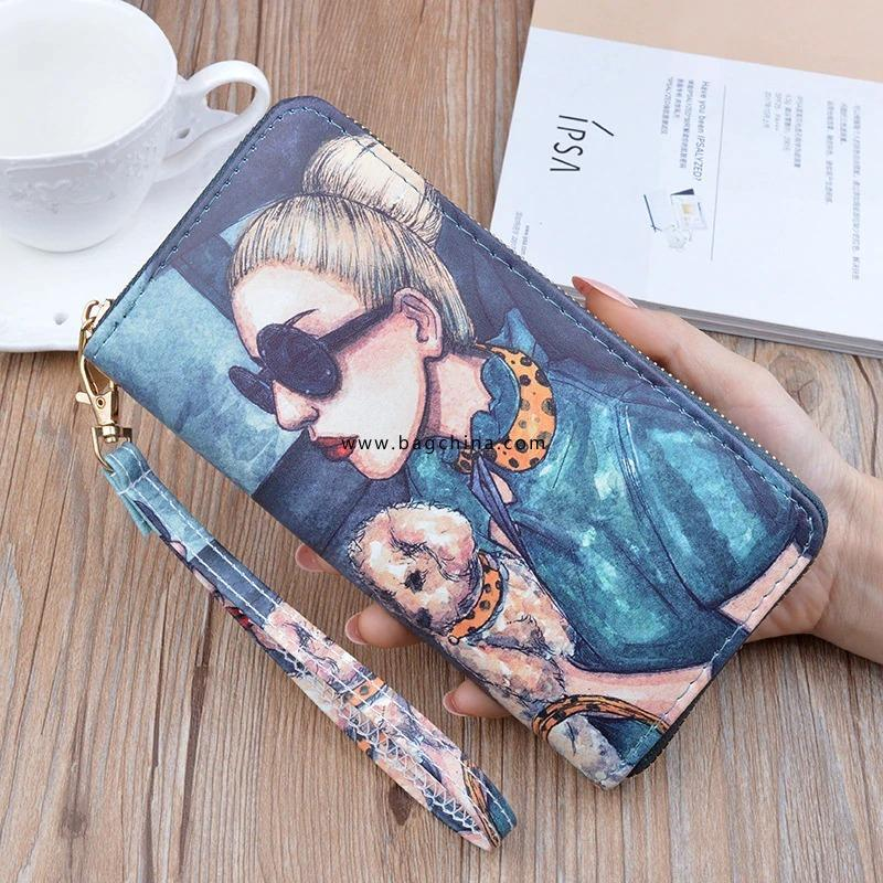 2020 New Women Wallets Women's Long Zipper Clutch Bag Print Fashion Student Coin Holder Phone Bag Nightmare Before Christmas