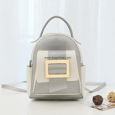 2020 New Mini Ladies Backpack Fashion Color Matching Small Fresh Backpack PU Pure Color Mobile Phone Coin Purse