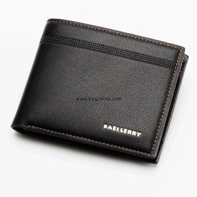 New Arrival Litchi Black Purse for Men Wallet Short Leather Men's Wallets Thin Male Small Wallet Card Holder Soft Mini Purses