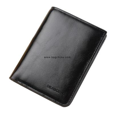 Leather Bi-fold Men Wallet Fashion Luxury Coin Bag Zipper Small Money Wallet Dollar Slim Wallet Wallet Wallet