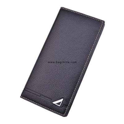 2020 Wallet Men Small Litchi Business Card Holder Men Wallets Money Bag Male Vintage Black Long Purse Leather Slim Wallets Thin