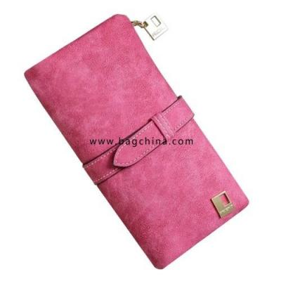 2020 Solid Drawstring Nubuck Leather Zipper Long Women Wallets Phone Bag Luxury Brand Wallets Designer Purse Card Holder Clutch