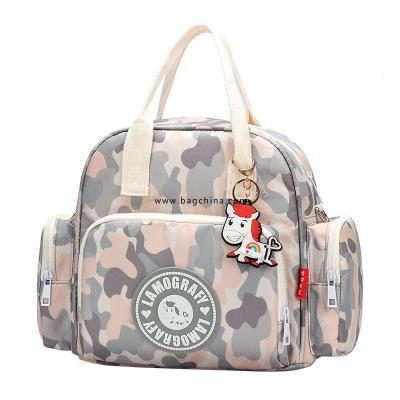 Bag Women's bag 2020 new printed mommy bag small multi-functional fashion mom bag shoulder messenger mother and baby bag